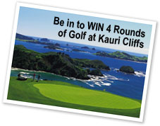 Be in to Win four rounds of golf at Kauri Cliffs